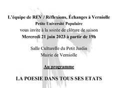 PETITE UNIVERSITÉ POPULAIRE À VERNIOLLE