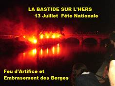 FETE NATIONALE ET FEU D'ARTIFICE - LA BASTIDE/HERS - 13 JUILLET