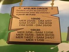 Ateliers cirque à la ferme l'Âne qui rit - SEPTEMBRE