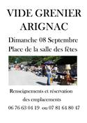 Vide grenier à Arignac