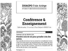CONFÉRENCE DU DHAGPO À FOIX