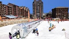 Ski et luge à l'espace évolution d'Ax 3 Domaines