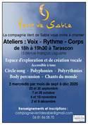 Ateliers: Voix - Rythme - Corps avec la Cie Vent de Sable