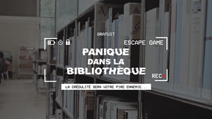 Alès : ST CHRISTOL LES ALES - Du lundi 21 octobre 2019 au mardi 22 octobre 2019 - Escape Game - Panique à la bibliothèque