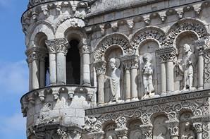 Façade de l'Eglise Notre-Dame la Grande à Poitiers