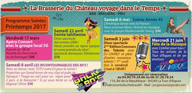 Les animations de la Brasserie du Château