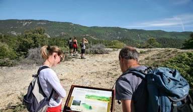 Sentier géologique Cabrieres d'Aigues