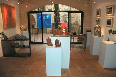 vers-pont du gard;atelier;open galerie;show room