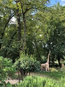 Jardin des Oules - Statue de la Girafe