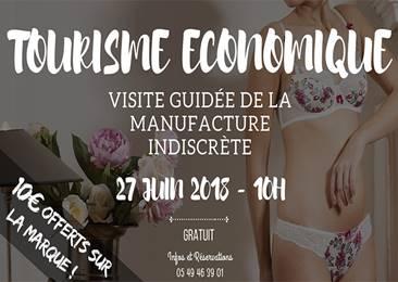Visite de la manufacture de lingerie Indiscrète à Chauvigny