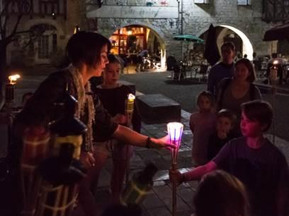 Visite guidée de Lauzerte : Ronde de nuit aux Flambeaux