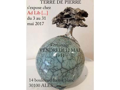 Expo chez Ad Lib - Terre de pierre