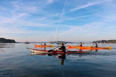 Journée kayak Semaine du Golfe autour de l'île aux Moines