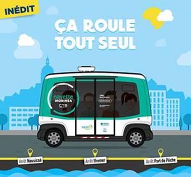 La navette autonome « Morinéa » à Boulogne-sur-Mer