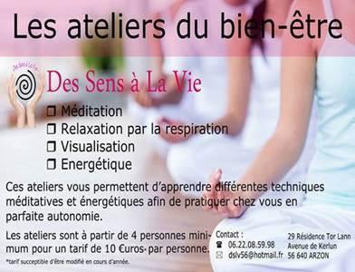 Les Ateliers du Bien-Etre (Méditation et Initiation à l'Energétique) par Des Sens à la Vie
