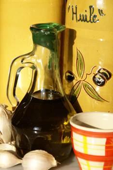 huile d'olive et ail