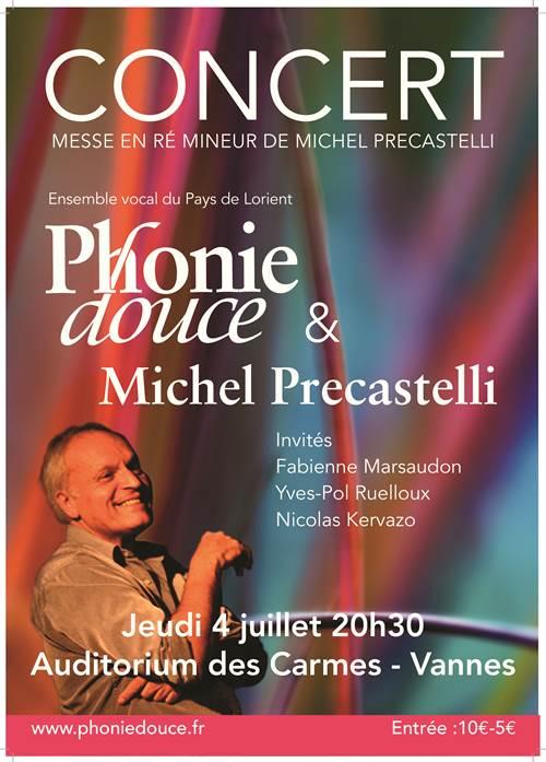 Concert ensemble vocal phonie douce et Michel Précastelli (compositeur pianiste)