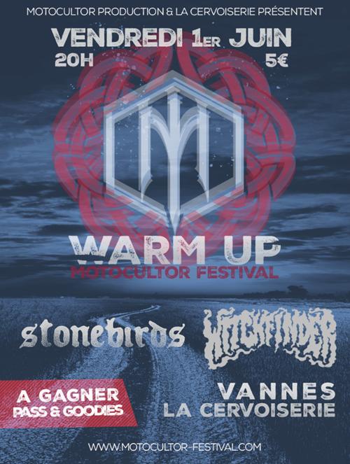 Warm Up Motocultor Festival - Concerts Stonebirds & Witchfinder