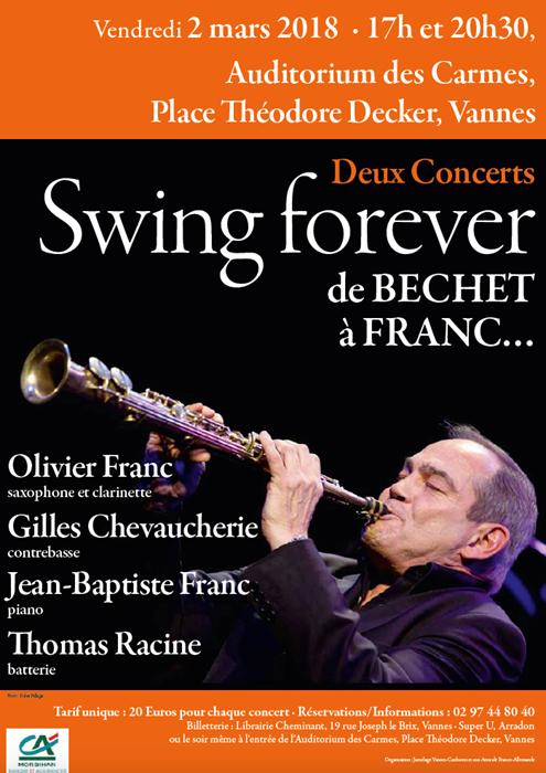 Concert Swing Forever, de Bechet à Franc...