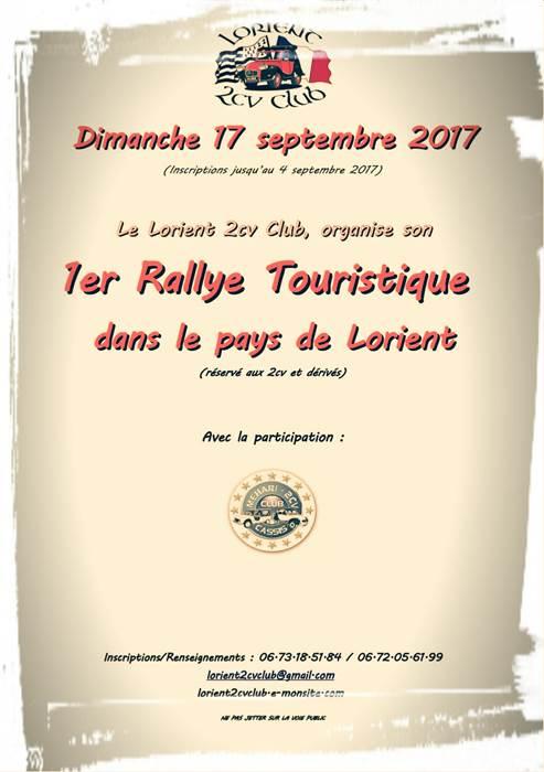 Rallye touristique 2cv dans le Pays de Lorient -