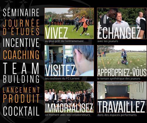 Pack événementiel challenge Foot FC Lorient
