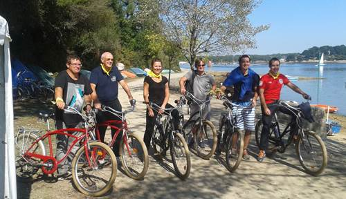 Rallye Vélo Ile aux Moines ave Au Gré Du Vent