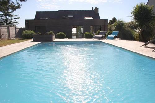 Maison contemporaine avec vue sur le golfe du Morbihan et piscine - REF_MAIS_1363 - AGENCE BENEAT-CHAUVEL