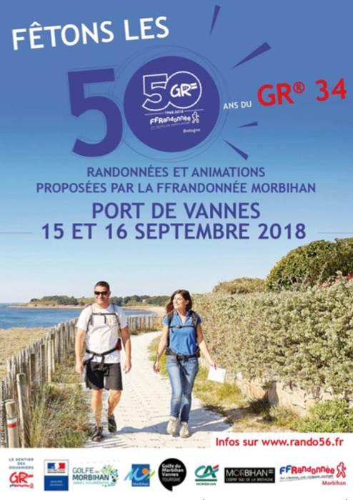 Fêtons les 50 ans du GR® 34 en Morbihan
