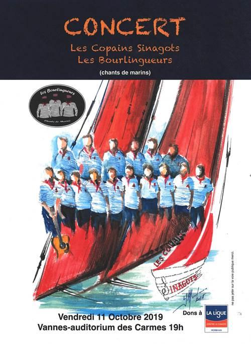 Concert de chants de marins avec Les Copains Sinagots & Les Bourlingueurs