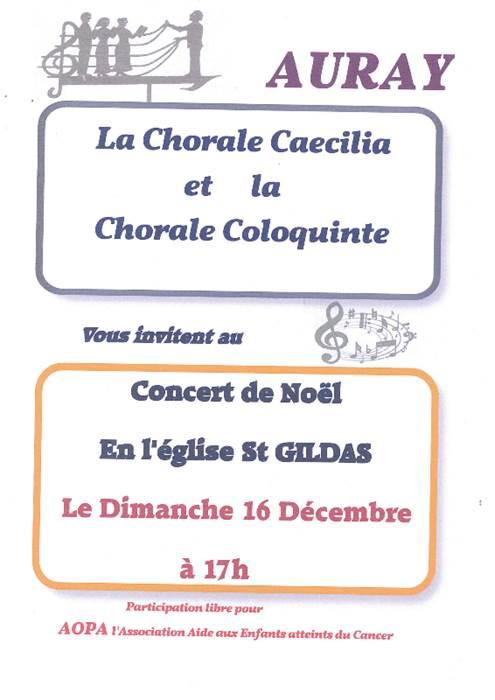 Concert de Noël des chorales Caecilia et Coloquinte