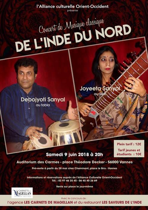 Concert de musique classique de l'Inde du Nord