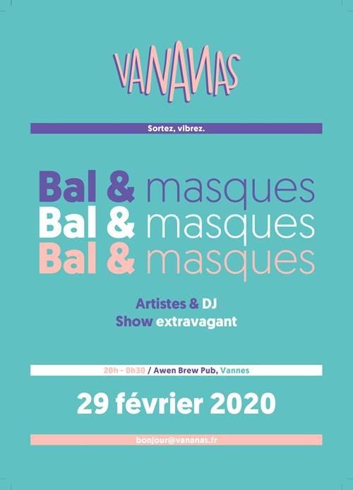 Soirée Bal & Masques par les Vananas & Awen Brew Pub