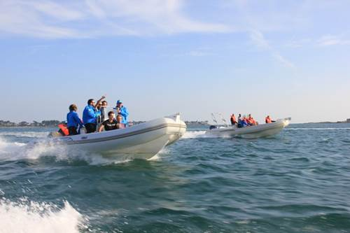 Raid nautique en semi-rigides dans le Golfe du Morbihan avec Skippage