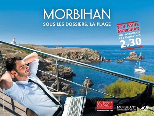 Campagne d'affichage du Morbihan dans le métro parisien... Morbihan Affaires fait le buzz !!!
