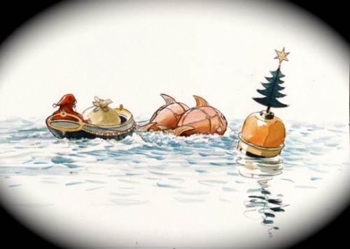 Arrivée du Père-Noël à St Cado