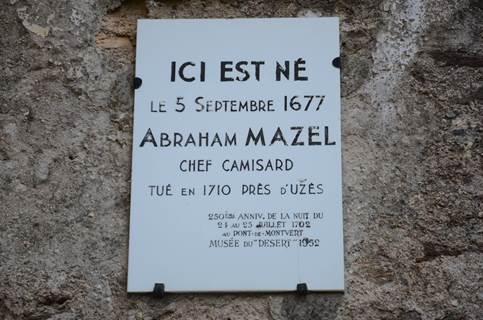 Visite de la maison du chef camisard A. Mazel