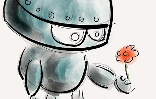 Des robots et des hommes.