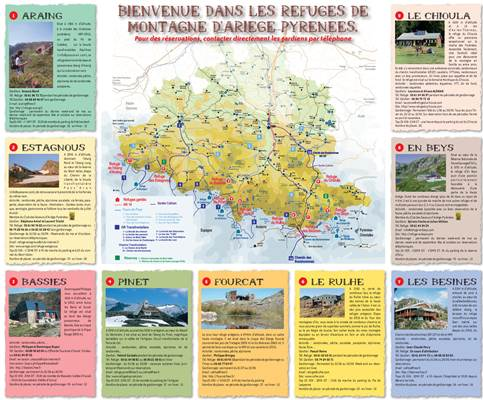 Carte des refuges de montagne