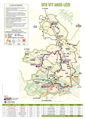 Carte VTT Arize Lèze