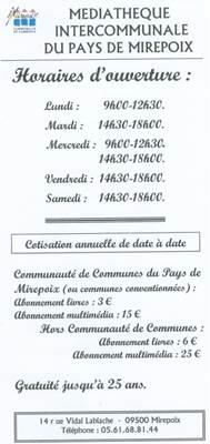 Médiathèque de Mirepoix