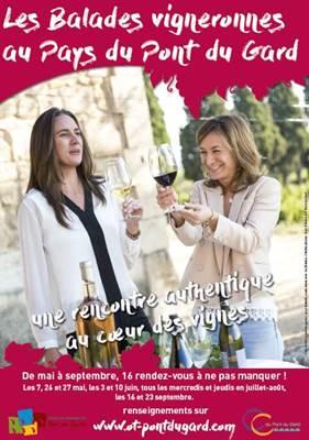 Balades vigneronnes au pays du Pont du Gard