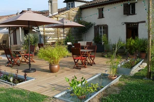 Terrasse coté jardin