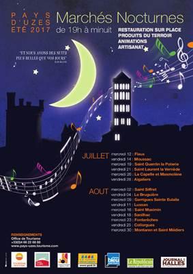 Marchés Nocturnes en Pays d'Uzès