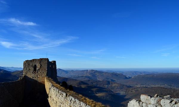 La vue depuis le chateau de Montségur