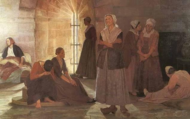 Prisonnières huguenotes à la tour de Constance