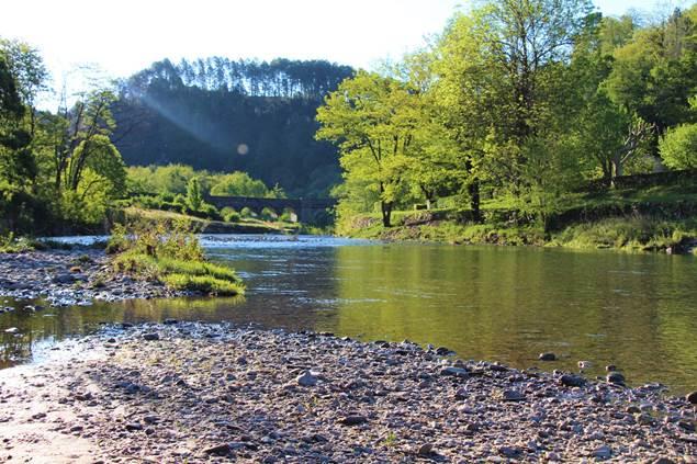 rivière limpide avec profondeur progressive