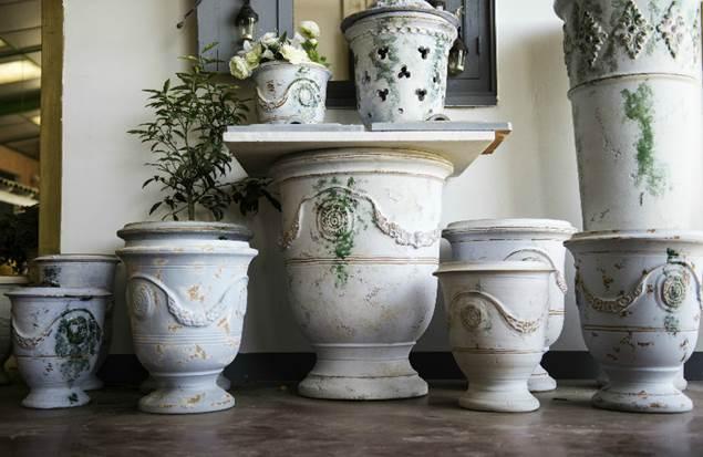 Vase d'Anduze Chêne vert