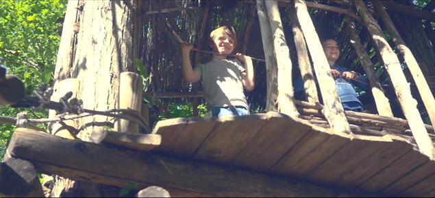 parc parfum d'aventure cabane enfants