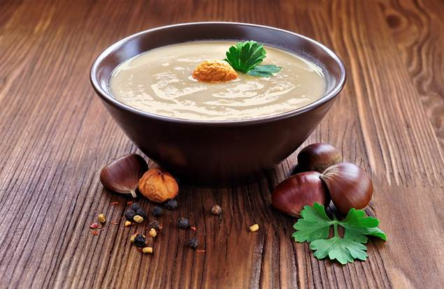 Soupe châtaigne et cèpes - Recette Cévennes