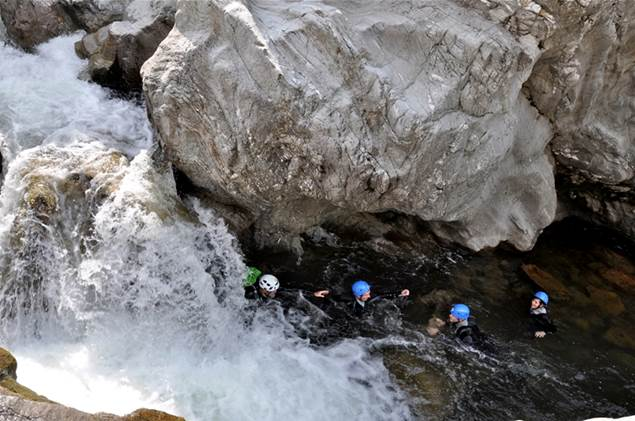 parfum d'aventure canyoning